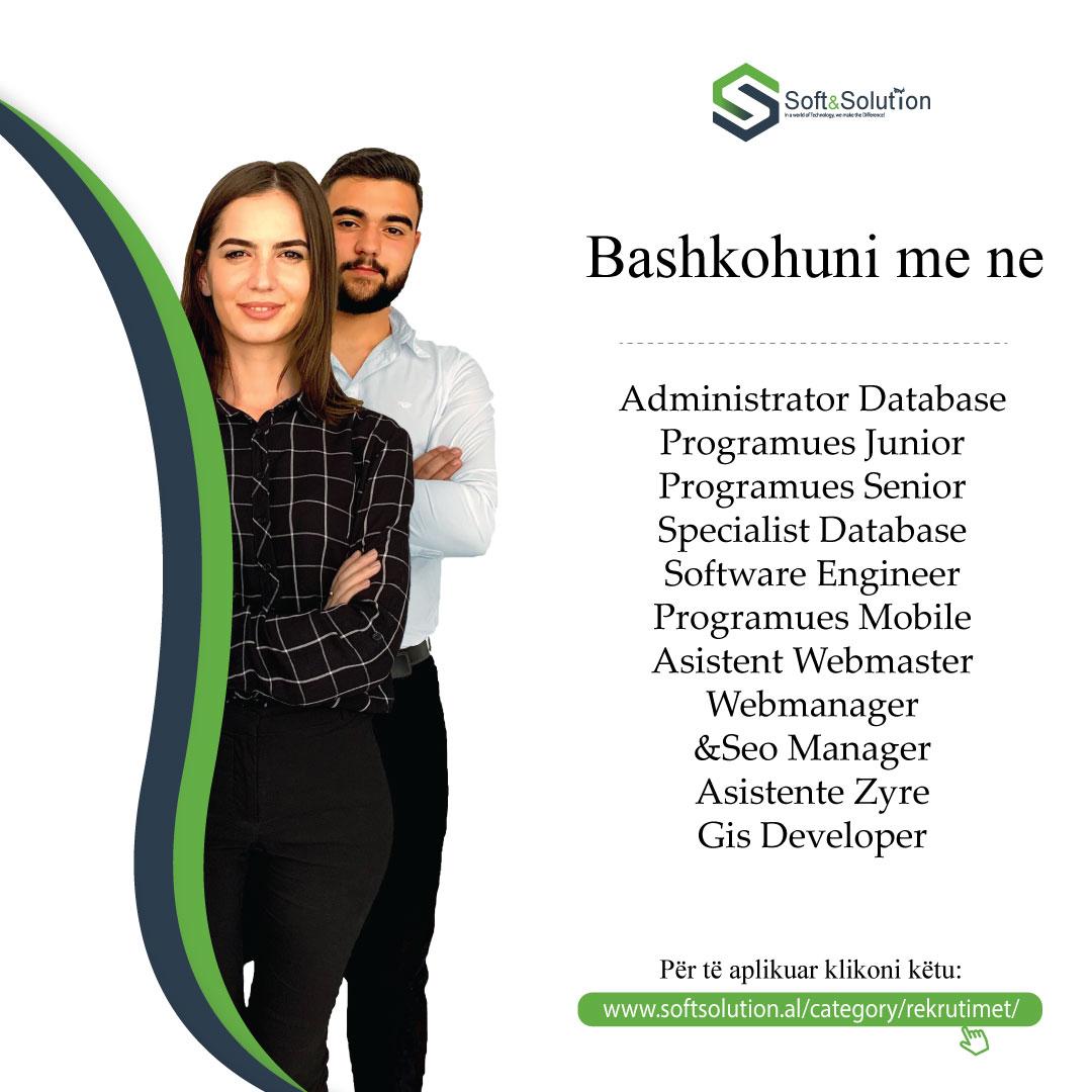 kompani udhëheqëse,vende të lira pune,udhëheqëse në Shqipëri,Soft & Solution kompani,Soft & Solution kompani udhëheqëse
