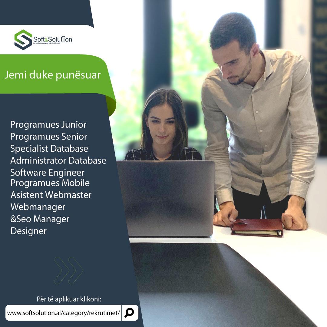 Mundësi punësimi,punësimi pranë Soft Solution,click,Doni te punesoheni,te punesoheni vetem me nje click