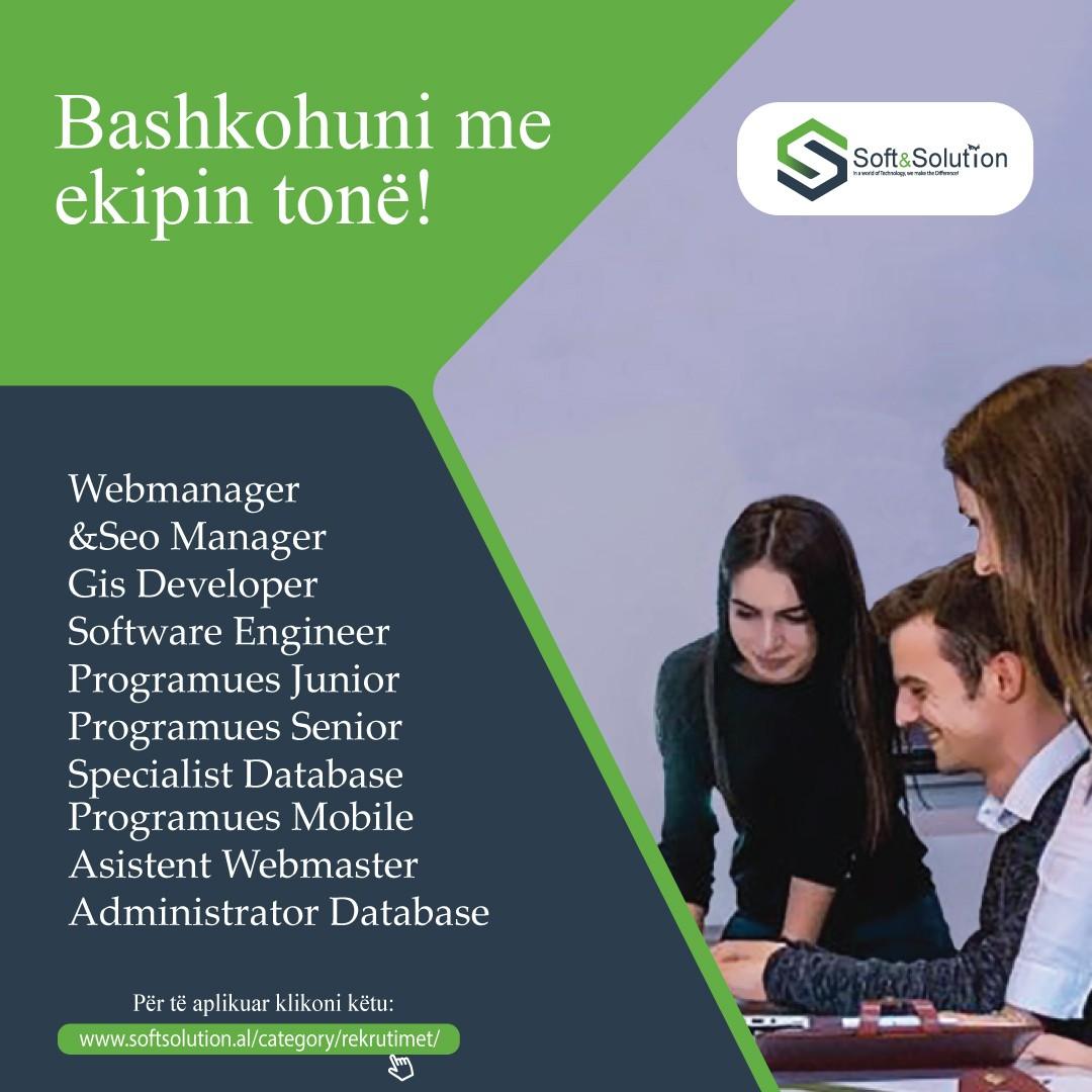 Bashkohuni me ekipin, Specialist Database,Gis, Gis Developer