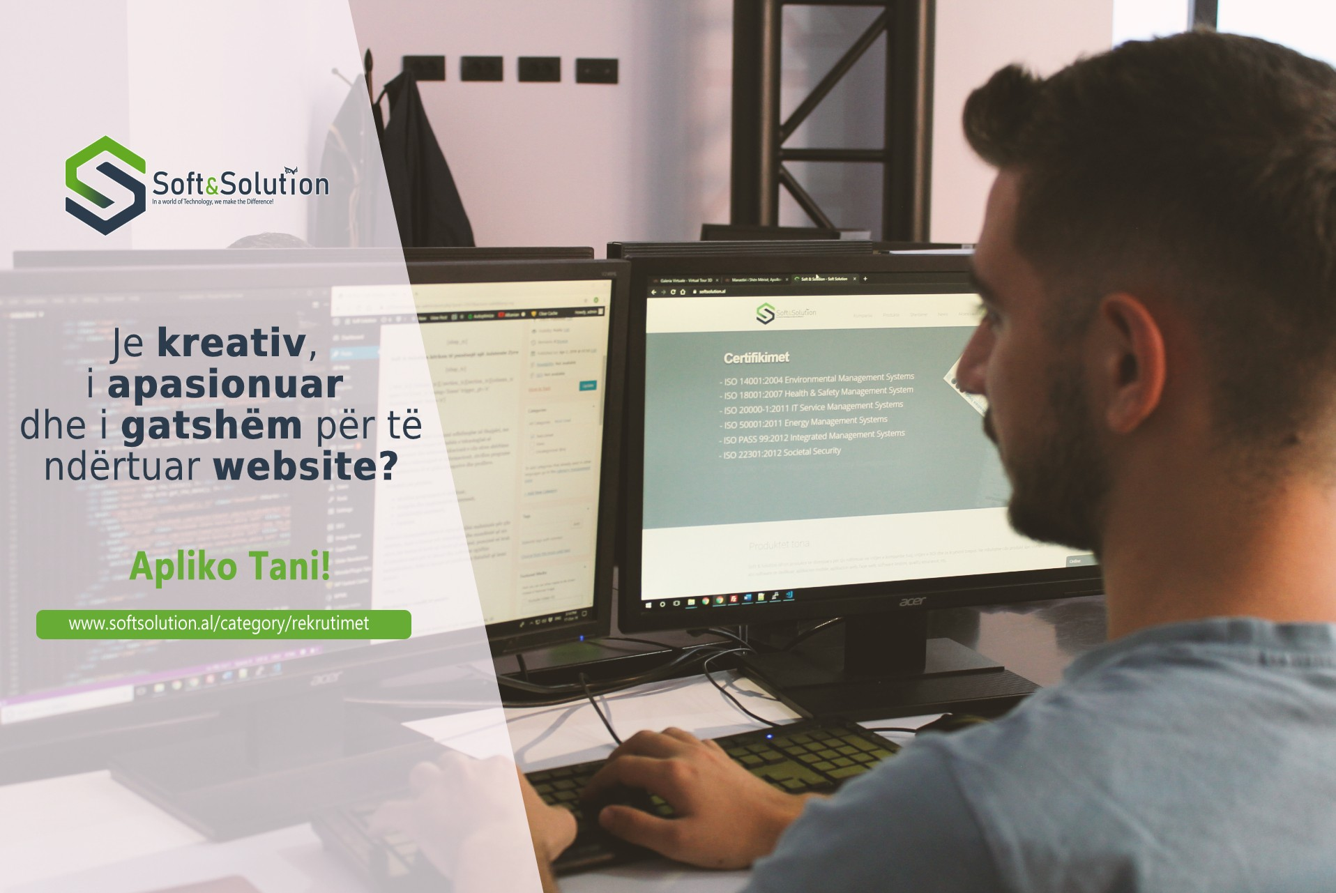 Kandidat,Kompania Soft&Solution,Soft&Solution kërkon Webmaster